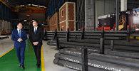 Президент Ильхам Алиев на открытии кислородного завода в Баку