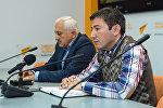 Видеомост Баку-Астана на тему Перспективы азербайджано-казахстанских отношений в Мультимедийном пресс-центре Sputnik Азербайджан