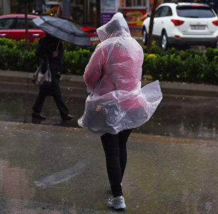 Дождь в Баку, фото из архива