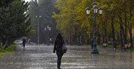 Дождливая погода в Баку, фото из архива