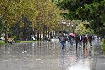 Bakıda yağışlı hava
