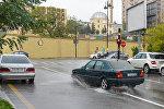Bakıda yağışlı hava, arxiv şəkl