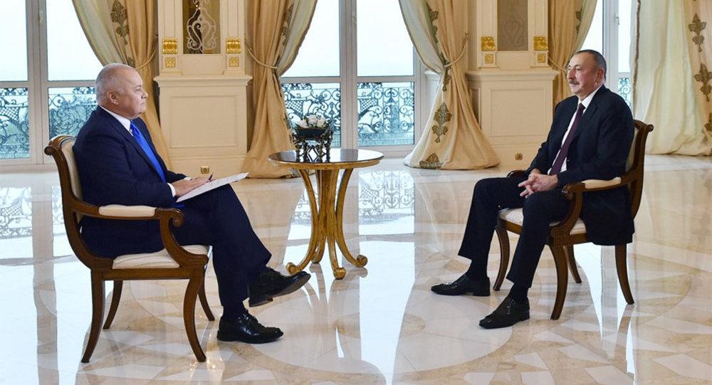 Azərbaycan Respublikasının Prezidenti İlham Əliyev Dmitri Kisilyovun suallarına cavab verib