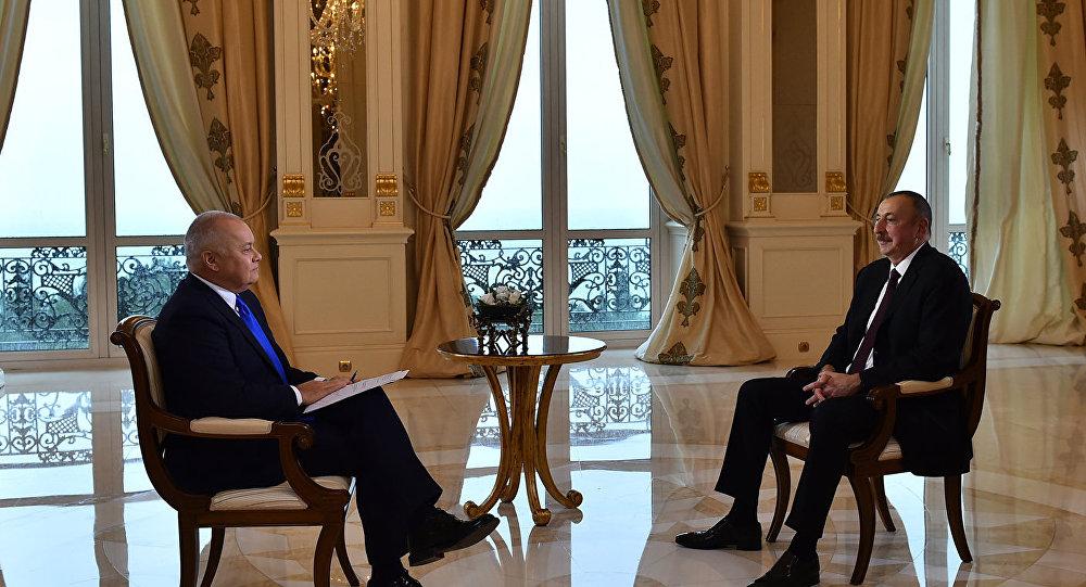 Интервью президента Азербайджана Ильхама Алиева директору МИА Россия сегодня Дмитрию Киселеву