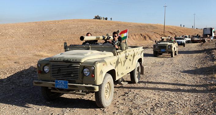 Силы Пешмерга продвигаются на востоке Мосула, готовясь атаковать боевиков ИГ, Ирак, 17 октября 2016