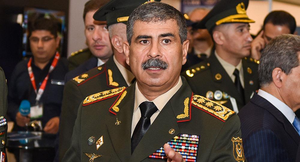 Министр обороны АР Закир Гасанов, фото из архива