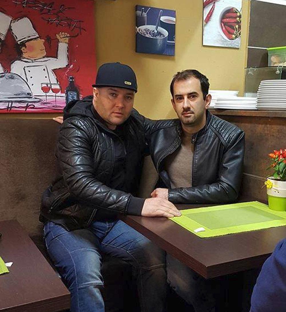 Хамзат Гастамиров (слева) и Марко Стриппо из семьи Бернардо Провенцано