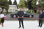 İlham Əliyev Qazax Rayon Tarix-Diyarşünaslıq Muzeyinin yeni binasının açılışını edib