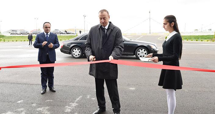 İlham Əliyev Ağstafa şəhərində Musiqi Mərkəzinin açılışında iştirak edib