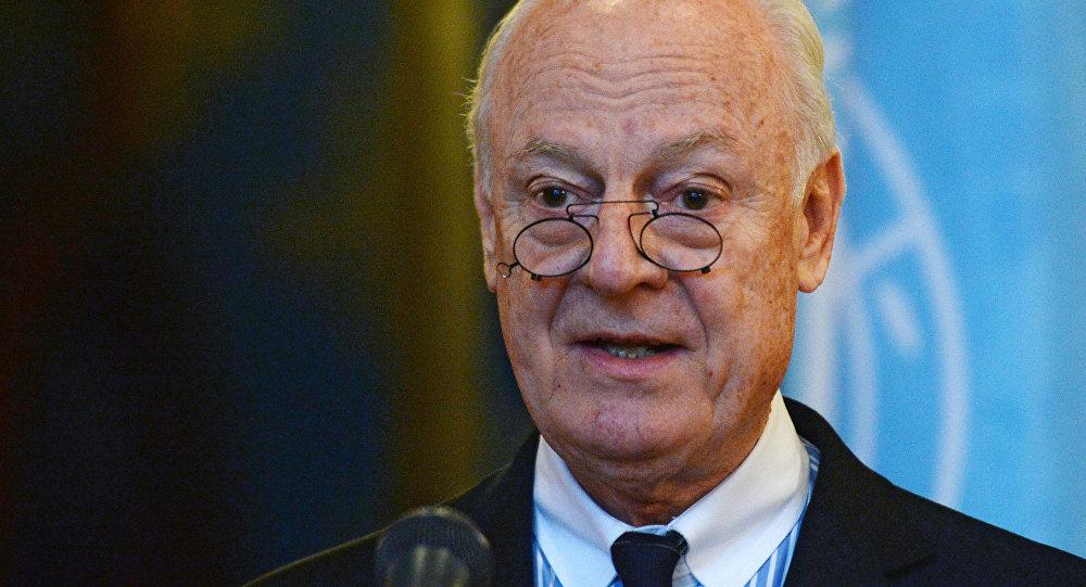 Специальный посланник ООН по Сирии Стаффан де Мистура, фото из архива