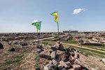 YPG bayrağları