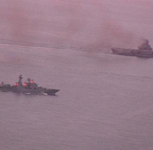 Адмирал Кузнецов: Ла-Манш в сопровождении норвежского фрегата