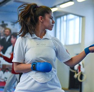 Тренировка сборной Азербайджана по каратэ перед чемпионатом мира