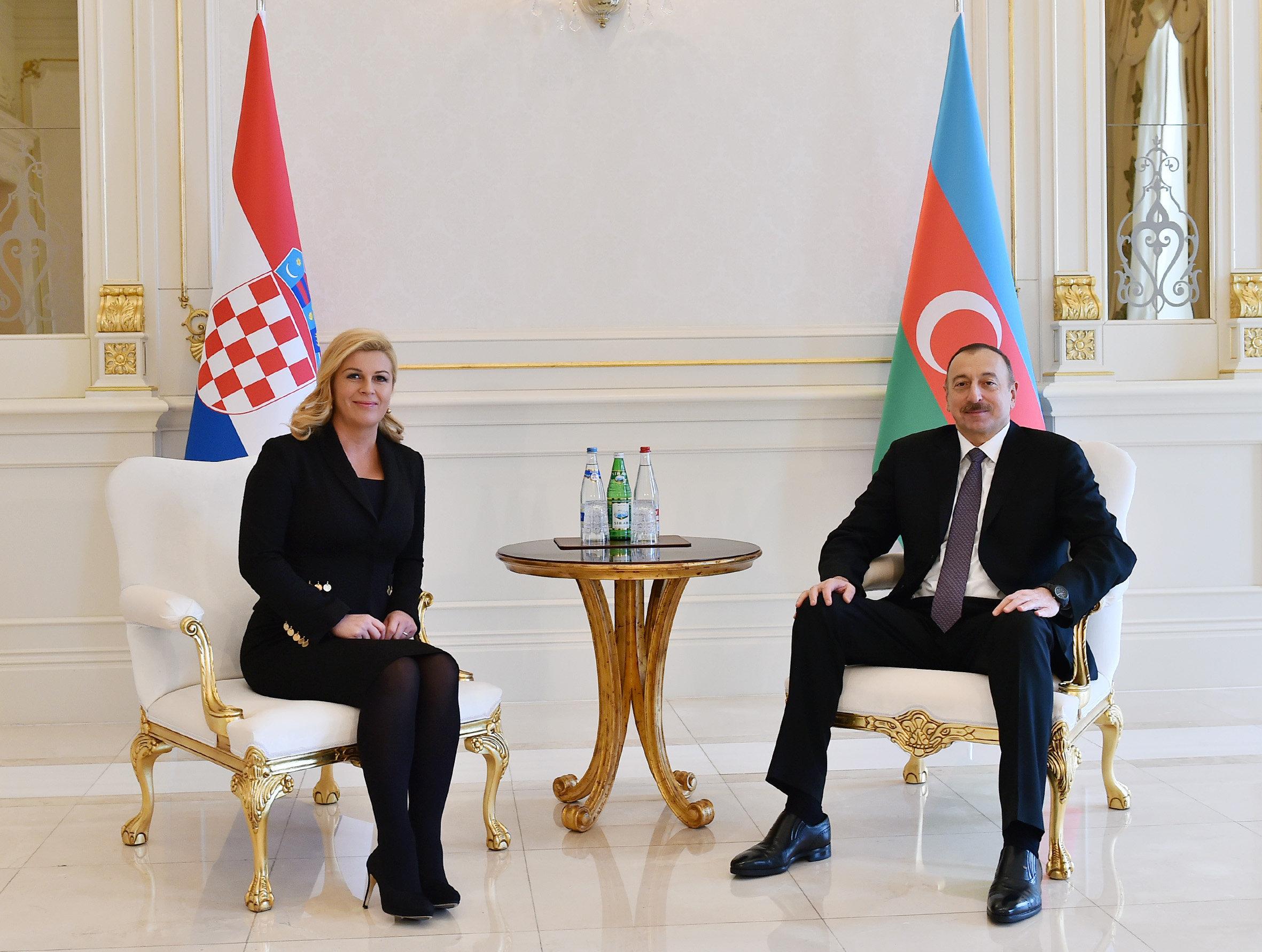 Отношения между Азербайджаном иХорватией находятся навысоком уровне— Алиев