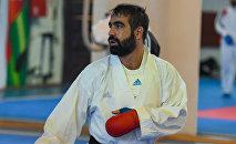 Четырехкратный чемпион мира, каратист Рафаэль Агаев