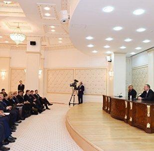Azərbaycan və Xorvatiya prezidentləri mətbuata bəyanatlarla çıxış ediblər