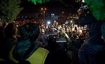Акция грузинской партии Единое нацдвижение у здания ЦИК в Тбилиси