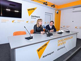 Пресс-конференция на тему Аудиовизуальное наследие Азербайджана и работа по его популяризации в Мультимедийном пресс-центре Sputnik Азербайджан