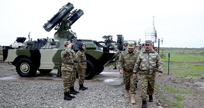 Министр обороны Закир Гасанов на открытии нового полигона ВВС АР