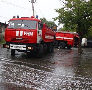 Пожарные машины МЧС Азербайджана, архивное фото