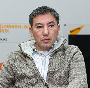Политолог Ильгар Велизаде в Мультимедийном пресс-центре Sputnik Азербайджан