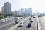 Дорожная развязка на проспекте Гейдара Алиева в Баку, фото из архива