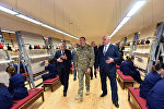 Президент Азербайджанской Республики Ильхам Алиев принял участие в открытии коврового комбината