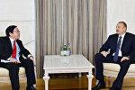Prezident İlham Əliyev və Asiya İnkişaf Bankının vitse-prezidenti Vençay Janqın görüşü