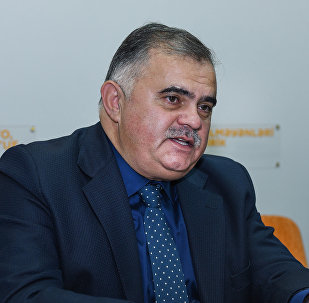 Политолог Арзу Нагиев в Мультимедийном пресс-центре Sputnik Азербайджан