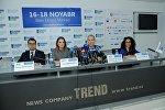 Пресс-конференция, посвященная проведению в Баку Международной выставки в области охраны окружающей среды Caspian Ecology 2016