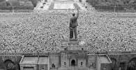 Митинг на центральной площади города Баку, конец 80-х гг
