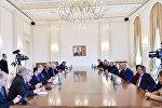 İlham Əliyev Dünya Xəbər Agentliklərinin V Konqresinin iştirakçılarının bir qrupunu qəbul edib
