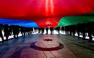 Шествие, посвященное Дню Государственного флага Азербайджана