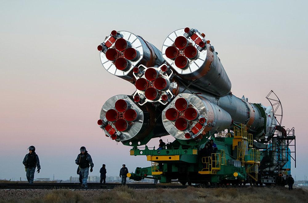 Запуск космического корабля Союз МС-03