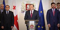 Премьер-министр Грузии Георгий Квирикашвили на заседании парламента