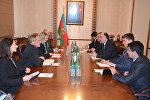Глава МИД Азербайджана Эльмар Мамедъяров на встрече с заместителем помощника госсекретаря США Бриджет Бринк