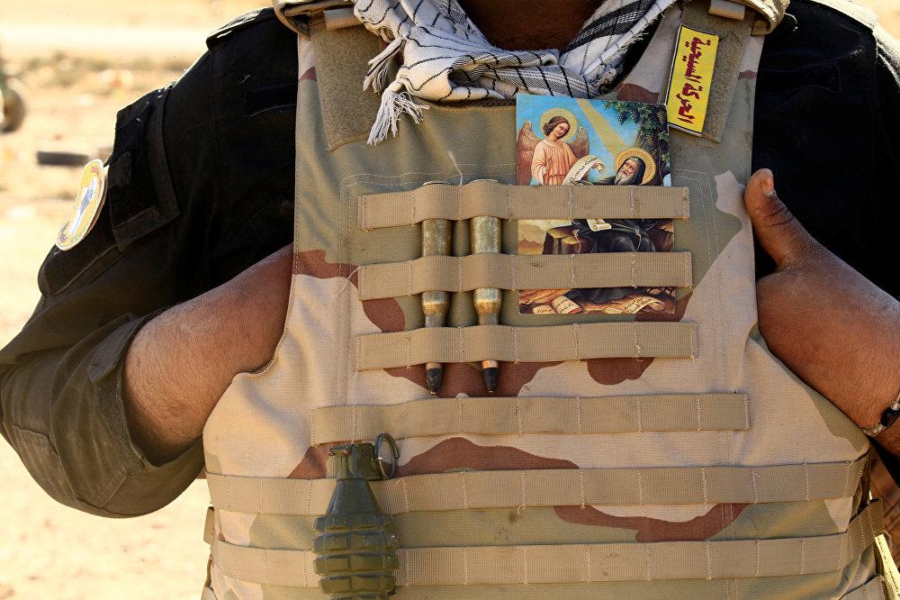 Боец христианской милиции Катаиб Вавилон в Ираке