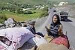 Жители Нагорного Карабаха вынуждены покинуть свои дома в результате оккупационных действий Армении, 1992 год