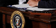 Большая печать США в Восточной комнате Белого дома, фото из архива