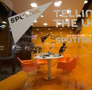 Студия международного информационного агентства и радио Sputnik в ЭкспоФоруме, фото из архива