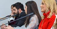Пресс-конференция на тему Подготовка к проведению конкурса Baku Fashion Week в Мультимедийном пресс-центре Sputnik Азербайджан