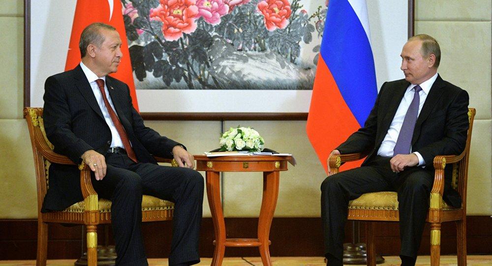 Президент РФ Владимир Путин и президент Турции Реджеп Тайип Эрдоган, фото из архива