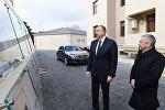 Ильхам Алиев принял участие в открытии нового жилого здания, построенного в Сабунчинском районе