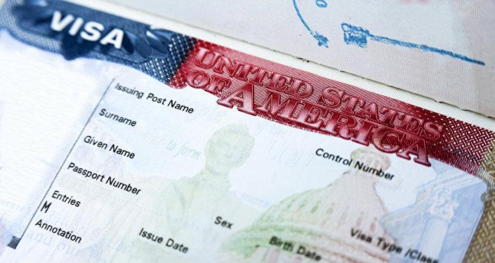 Американская виза, фото из архива