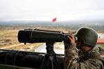 Солдат ВС Турции на турецко-сирийской границе, фото из архива