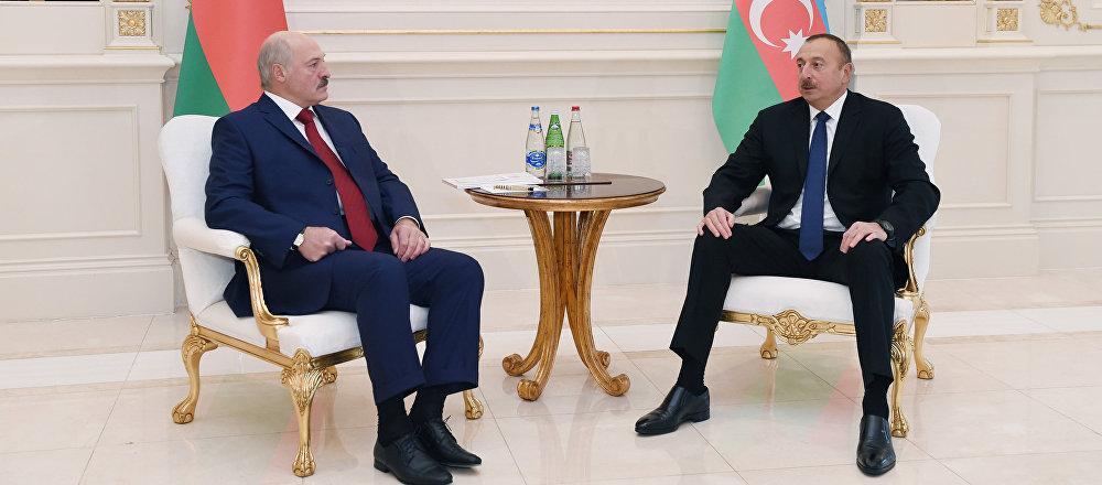 Состоялась встреча Ильхама Алиева и Президента Республики Беларусь Александра Лукашенко один на один