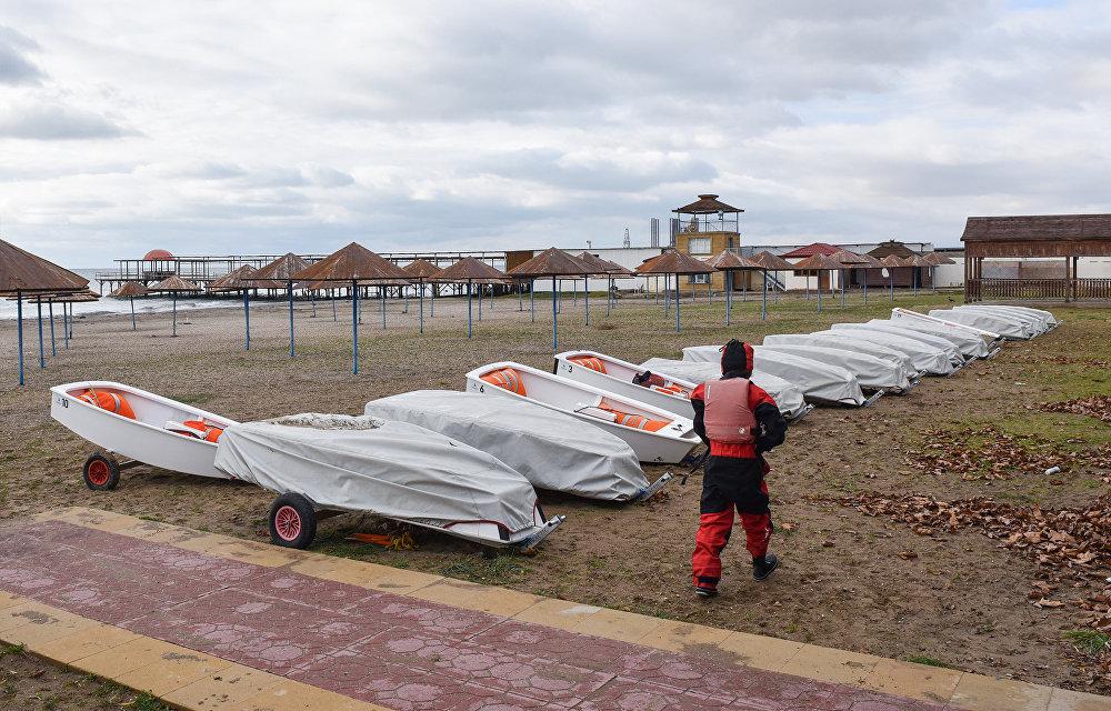 Зимняя тренировка Федерации парусного спорта Азербайджана