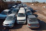 Yüksək radioaktiv şüalanma aşkarlanan avtomobillər, arxiv şəkli