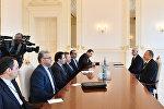 İlham Əliyev İranın rabitə və informasiya texnologiyaları nazirinin başçılıq etdiyi nümayəndə heyətini qəbul edib