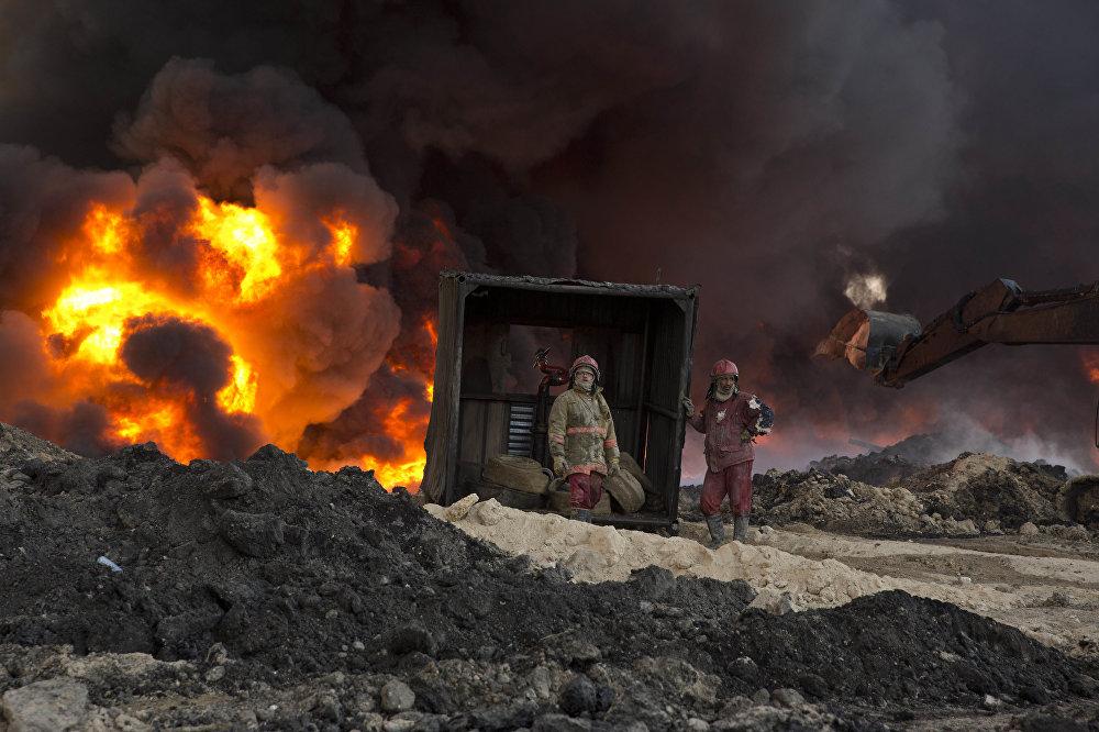 Пожарные в Мосуле
